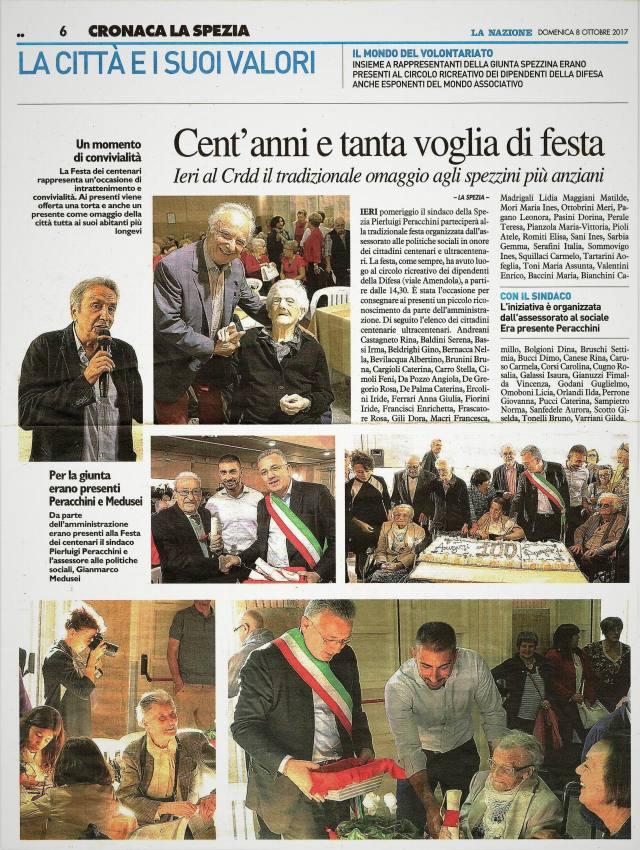 8-10-17 MONDO VOLONTARIATO AL CRDD PERACCHINI E MEDUSEI